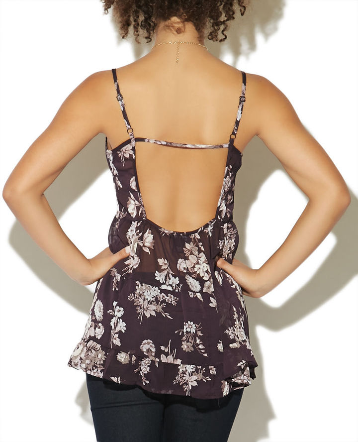 Babydoll Scoop Back Top