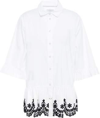 Kate Spade Scalloped Embroidered Coton-poplin Shirt