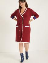 ELOQUII Cardigan Sweater Dress