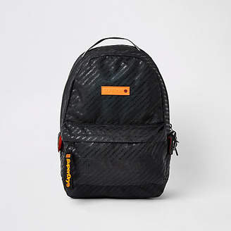 River Island Superdry black Hollow Montana backpack