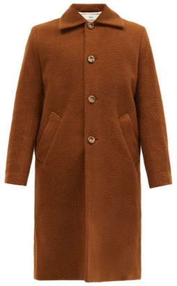 Séfr Ian Single-breasted Wool-blend Fleece Coat - Brown