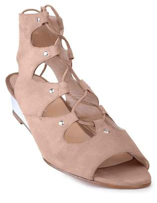 Amalfi by Rangoni Morata Ghillie Lace-Up Wedge Sandal - Narrow Width Available