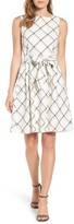 Anne Klein Women's Windowpane Plaid Fit & Flare Dress