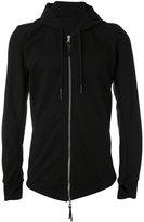 11 By Boris Bidjan Saberi zip front hoodie - men - Cotton - XS