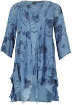Izabel London Floral Artistry Drape Top