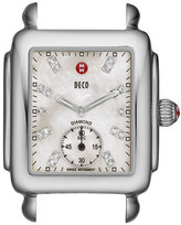 Michele 16mm Deco Diamond Dial Watch Head, Steel