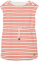 Carrement Beau Red and Off-White Scallop Dress