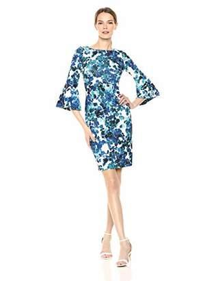 Calvin Klein Women's Jersey Bell Sleeve Sheath Dress