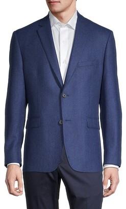 Saks Fifth Avenue Standard-Fit Wool & Cashmere-Blend Blazer
