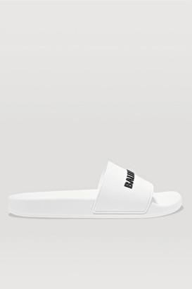 Balenciaga Piscine Logo-embossed Rubber Slides - White