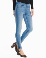 White House Black Market Embellished Zipper Hem Skinny Jeans