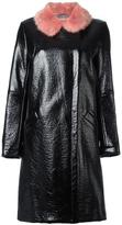 Shrimps - 'Hokus Hok' leather effect coat - women - Acrylic/Modacrylic/Polyester/Viscose - 12
