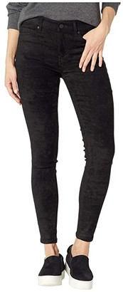 Liverpool Abby Ankle in Stretch Suede (Black) Women's Casual Pants
