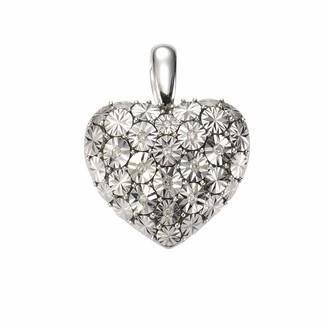 Celesta 312240012 I3 Light Yellow Round cut 0.07 carats Diamond 4.8 grams Sterling Silver 925 Pendant