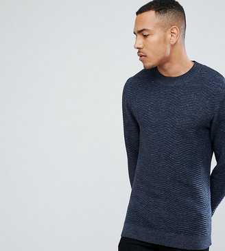 Selected Knitted High Neck Sweater With Texture Detail In 100% Cotton