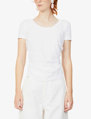 Jacquemus Sprezza tie-back cotton-jersey T-shirt
