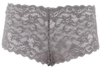 Hanro Moments Floral-lace Briefs - Womens - Grey