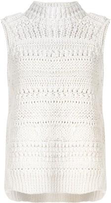 Christian Wijnants Korie chunky knit sleeveless jumper