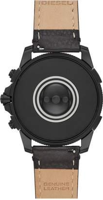 Diesel Gen 5 Full Display Oil Slick Case Dial Black Silicone Strap Smart Watch