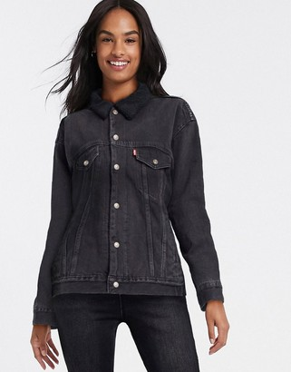 Levi's dad sherpa trucker lone ranger in black