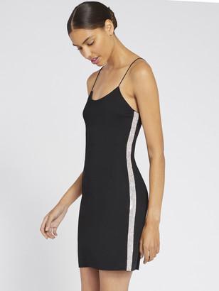 Alice + Olivia Noni Crystal Black Mini Dress