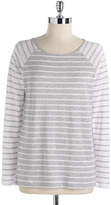Lord & Taylor Striped Bateau-Neck Tee