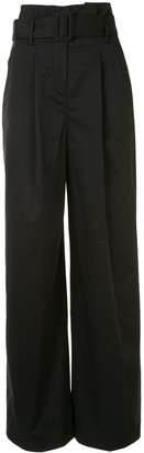 Paule Ka Wide-Leg High-Waisted Trousers