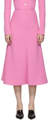 A.W.A.K.E. Mode Pink Flared Skirt