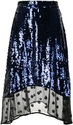 Markus Lupfer Sequin Lace Skirt
