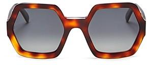 Celine Women's Polarized Octagon Sunglasses, 56mm