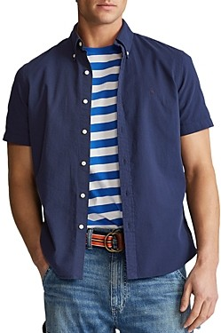 Polo Ralph Lauren Solid Seersucker Classic Fit Short Sleeve Button-Down Shirt