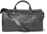 Balenciaga Creased-Leather Holdall