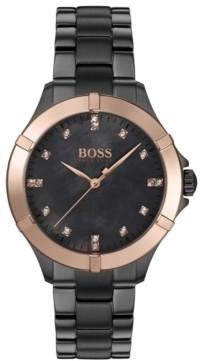 BOSS Women's Mini Sport Gray Ion-Plated Stainless Steel Bracelet Watch 32mm