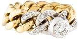 Pomellato 18K Diamond Two-Tone Chain Ring