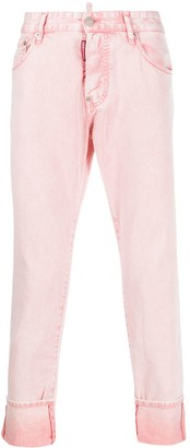 DSQUARED2 Cuffed-Hem Cropped Jeans