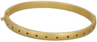 Sophie Round Bangle Red Garnet & Gold