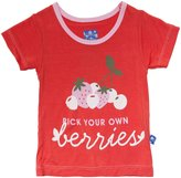 Kickee Pants Piece Print Tee (Baby) - Poppy Berries-0-3 Months