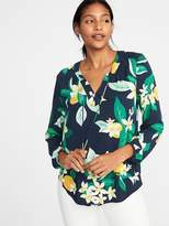 Old Navy Relaxed Tie-Neck Blouse for Women