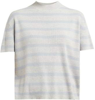 Barrie Summer Vibration Striped Cashmere Sweater - Womens - Grey Multi