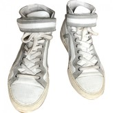 Pierre Hardy White Leather Trainers