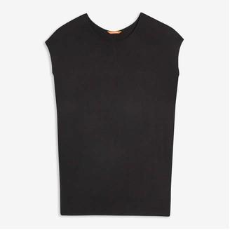 Joe Fresh Women's Soft Knit Tee Dress, JF Black (Size XL)