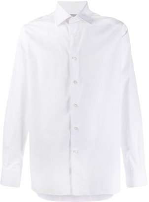 Canali Long Sleeved Cotton Shirt