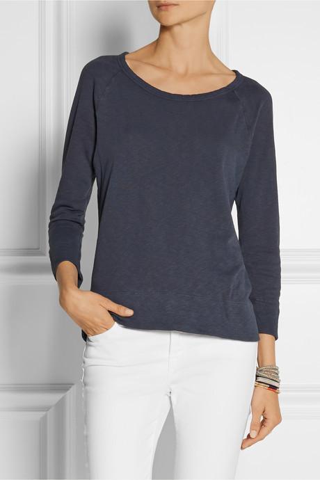 James Perse Vintage cotton-terry sweatshirt
