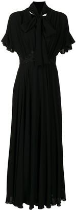 Giambattista Valli Long Tie-Neck Dress