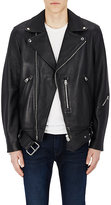 Acne Studios Men's Nate Clean Leather Oversized Moto Jacket