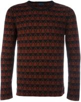Lanvin chevron pattern jumper - men - Wool - M