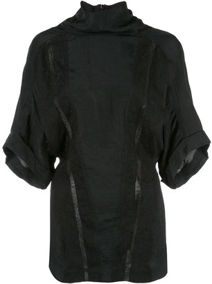 Nina Ricci Turtleneck Crinkled Top