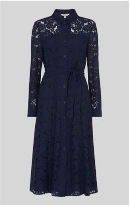 Whistles Oliviana Lace Midi Dress