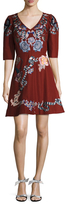 Temperley London Sailor Cotton Fit And Flare Dress