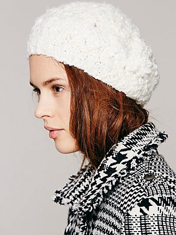 Free People Christys' Crown Collection Thick Chunky Knit Beret